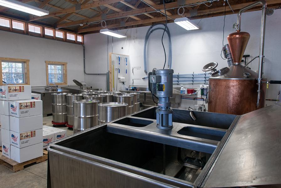 Inside the Springfield Distillery