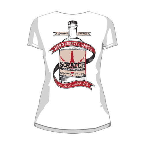 Lady's Scratch Bottle Tee Back