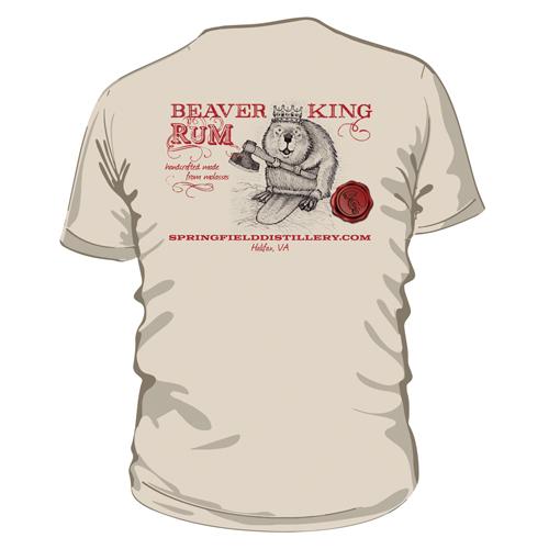Beaver King Short Sleeve Back