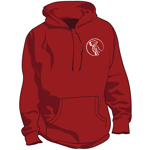 Red Hoodie Front View
